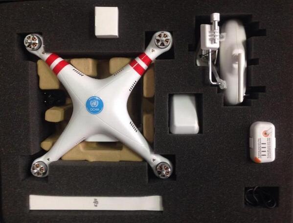 OCHA's DJI Phantom UAV (pic.twitter.com/lxjopMq8XR)